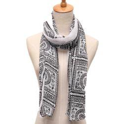 Dlouhý vintage šátek s geometrickými tvary