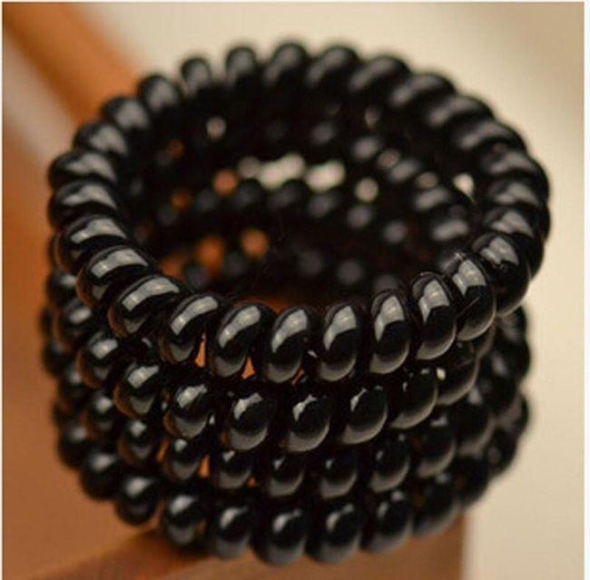 Sada černých gumiček do vlasů 1