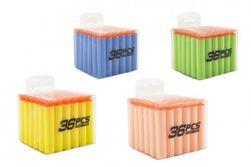 Zapasowe naboje piankowe na 36 z przyssawkami 4 kolory w pudełku 8x7x8cm RM_00850153