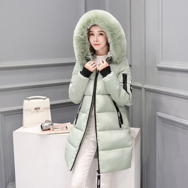 Dámská zimní bunda Alexia - Světle zelená-S 1