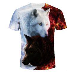 Стильная футболка с 3D принтом - 4 варианта