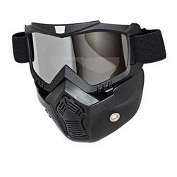 Maska motocrossowa ze zdejmowanymi goglami