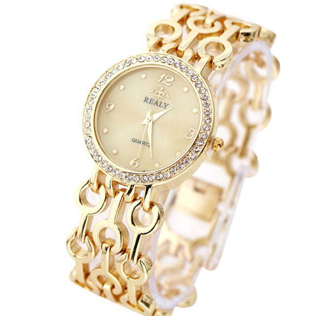 Ženski sat u stilu narukvice sa krupnim pojasom - 3 boje 1