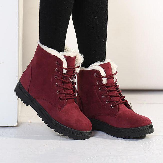 Zateplené šněrovací boty - 9 barev 1
