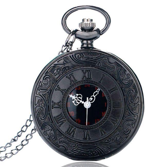 Žepna ura v črni barvi 1