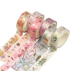 Washi tape strips Goldie