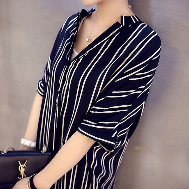 Košilové šaty s jemnými proužky 1
