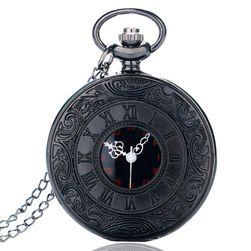 Джобен часовник в черно