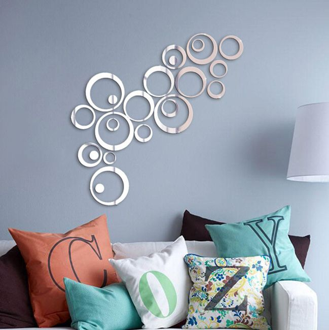 Zrcalne nalepke v obliki krogov 1