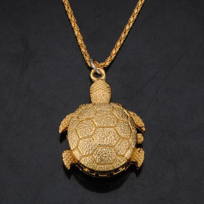 Závěsné hodinky ve tvaru želvičky 1