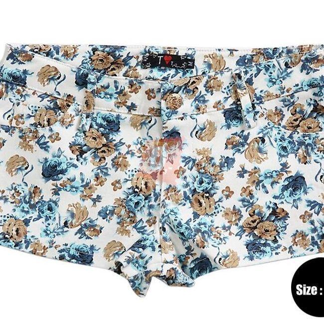 Dámské šortky s květinovým vzorem  1
