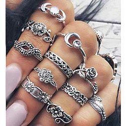 Set romantičnih vintage prstenova 11 komda