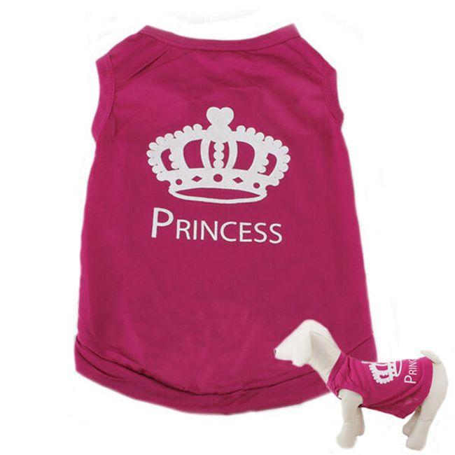 Розовая одежда для собак - Princess 1