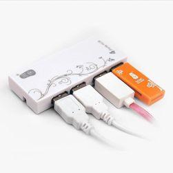 Vysokorychlostní USB hub se čtyři sloty - 3 barvy
