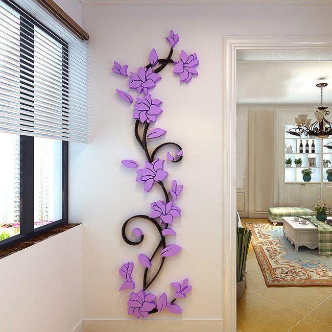 3D nalepnica na zid sa motivom puzavice 1