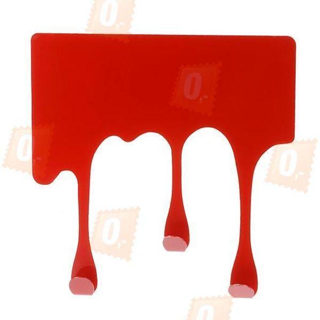 Designový věšák z nerezové oceli - červený 1