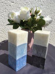 Svíčka kvádr 3 barvy 16 cm
