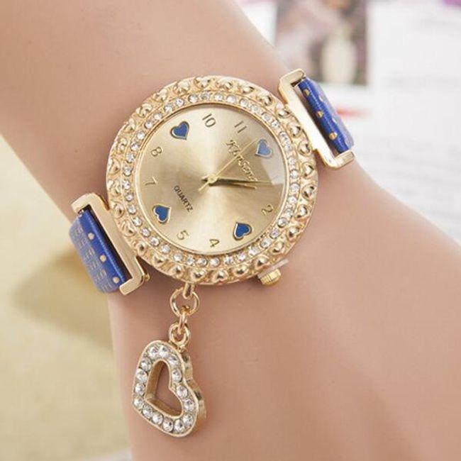 Женские наручные часы с подвеской в форме сердца 1