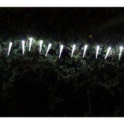Solar karácsonyi fények - könnyű lánc (jégcsapok) 20 LED-del, fehér
