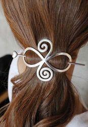 Metalowa spinka do włosów w trzech kolorach