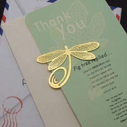 Книжная закладка - Золотистая стрекоза