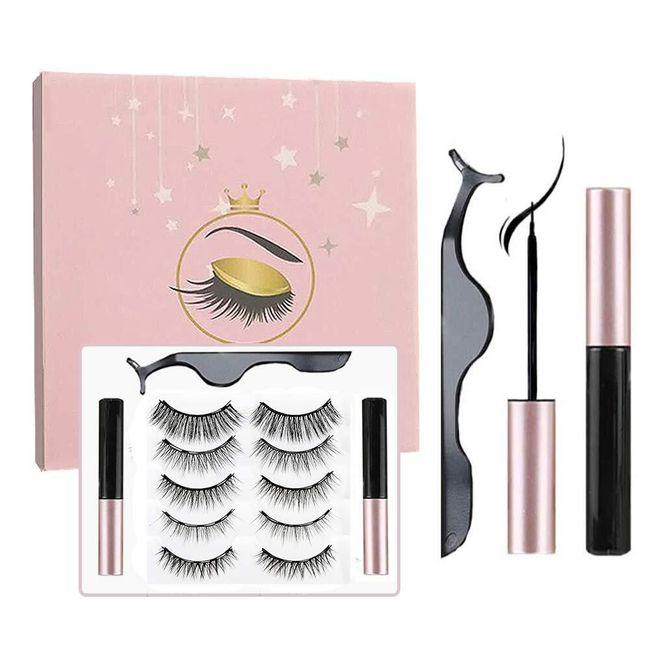 Komplet magnetycznych rzęs z eyelinerem   MR02 1
