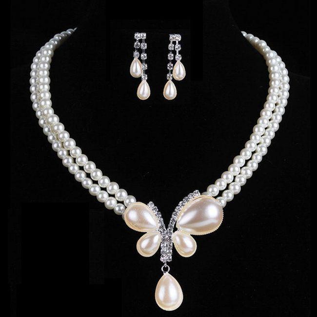 Okouzlující sada šperků z umělých perliček 1