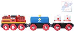 WOOD Train set dízelmozdony + kocsi 2db * FA JÁTÉKOK * SR_DS23989351