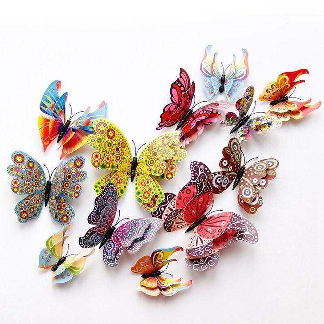 Sada 3D motýlků na záclonu Evie 1