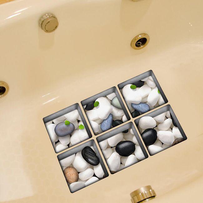 Csúszásgátló 3D fürdő matrica - kavics 1