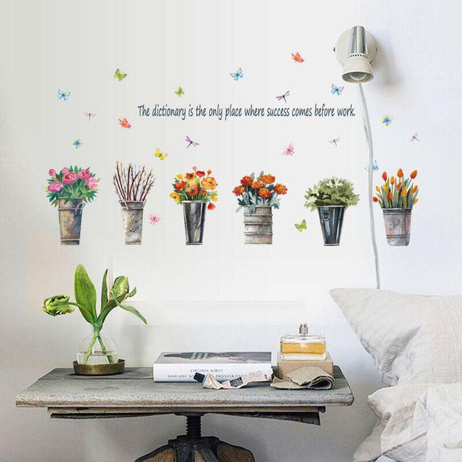 Samolepka s květinami - 50 x 70 cm 1