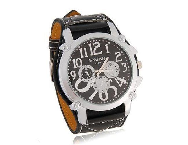 Sportovně-elegantní unisex hodinky WOMAGE - černé 1
