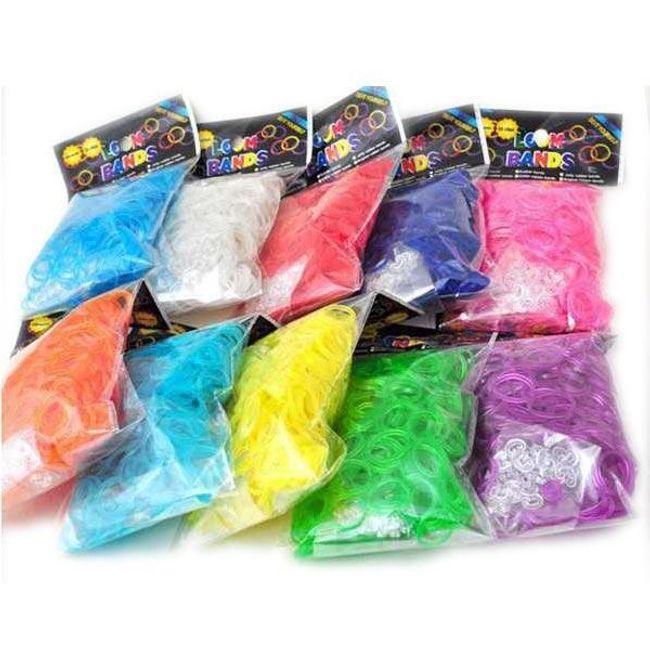600 de benzi de cauciuc colorate și 24 de cleme pentru brățări 1