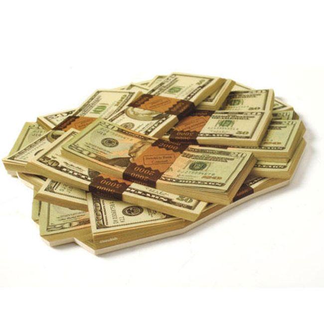 Podložka pod myš s 3D motivem - dolary 1