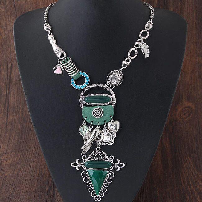 Bohémský náhrdelník ve zlaté a stříbrné barvě 1