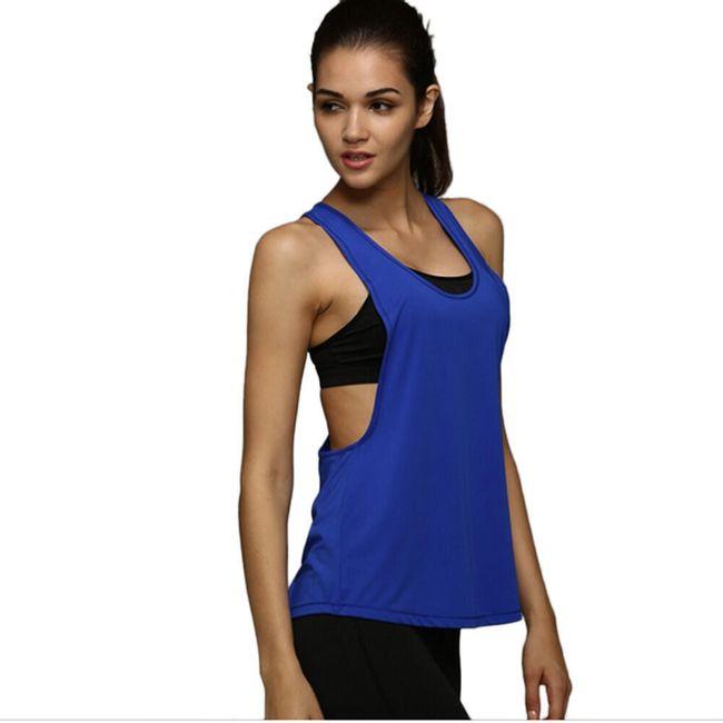 Ženska ohlapna fitnes majica - 6 barv 1