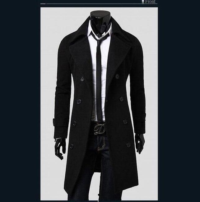 Pánský kabát Giorgio - Černá-M-1 1