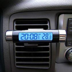 Toplomer za auto sa satom i osvetljenjem