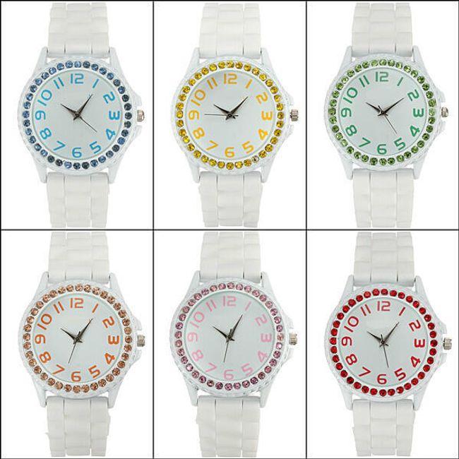 Bílé hodinky se silikonovým páskem 1
