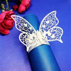 Dekorace na ubrousky motýlci - 50 ks v balení