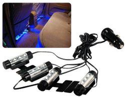 Niebieskie LED lampki do samochodu