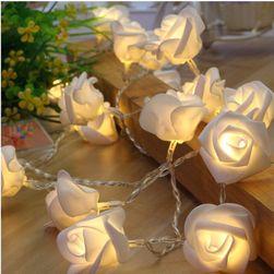 Dekoratív fények rózsák alakban