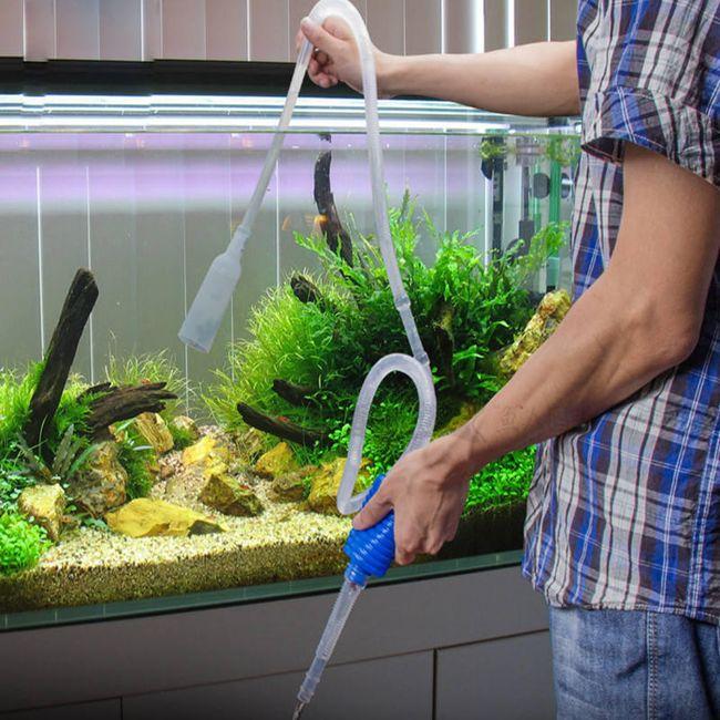Akvaryum temizleme el pompası 1