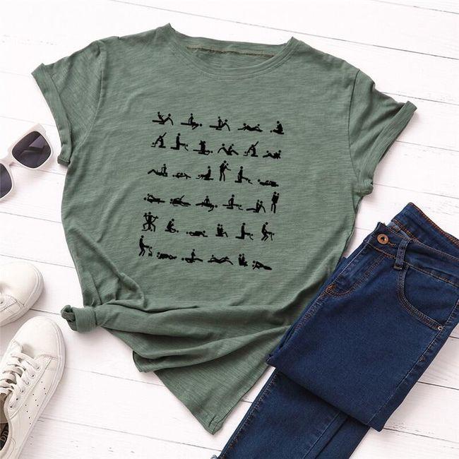 Dámské tričko s krátkým rukávem Allissa 1