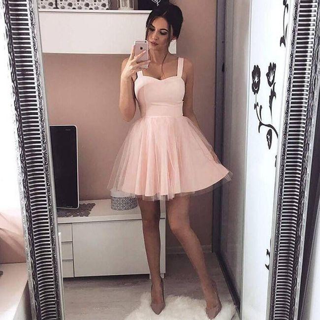 Dámské šaty s tylovou sukní - Růžová - velikost č. 2 1