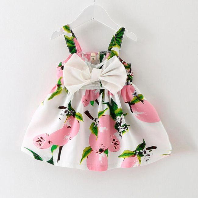 Šaty s mašlí pro holčičky 1