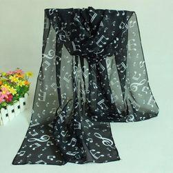 Jemný dámský šátek s notami