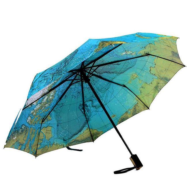 Deštník s mapou světa 1