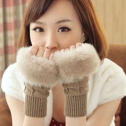Dámské rukavice s umělým kožíškem - 10 variant