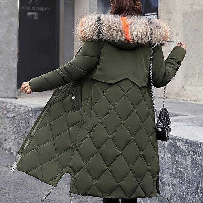 Dámský zimní kabát Angelica - Khaki-XS 1